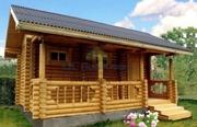 Строительство дачных домов,  бань из бревна,  из бруса или каркасных бан - foto 0
