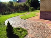 Благоустройство,  озеленение,  рулонный газон,  природный камень,  мульча - foto 1